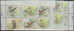 Canada USC #1713a Mint MS Imprint Blocks VF-NH 1998 45c Birds of Canada