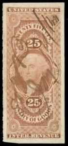 momen: US Stamps #R45a Revenue Manuscript Used XF-SUP