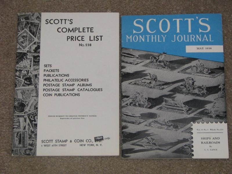 Scott`s Complete Price List & Scott`s Monthly Journal, 1938