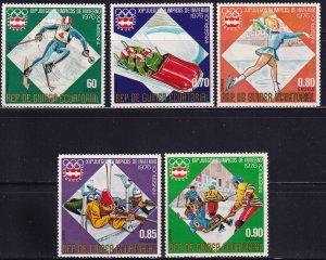 Equatorial Guinea, Sc 7613-7615, 7617-76, MNH, 1976, Olympics Innsbruck, AA02429