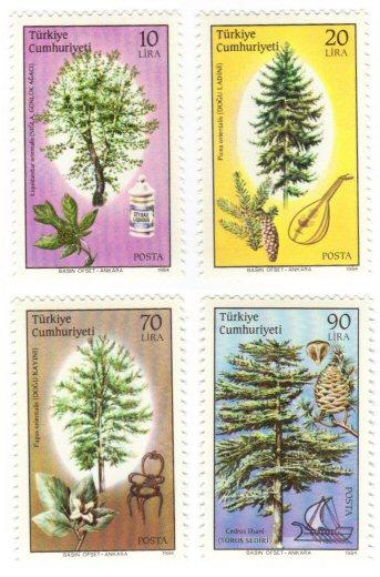 Turkey #2291-94 MNH cpl set - trees
