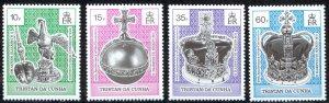 Tristan Da Cunha Sc# 524-527 MNH 1993 Coronation 40th