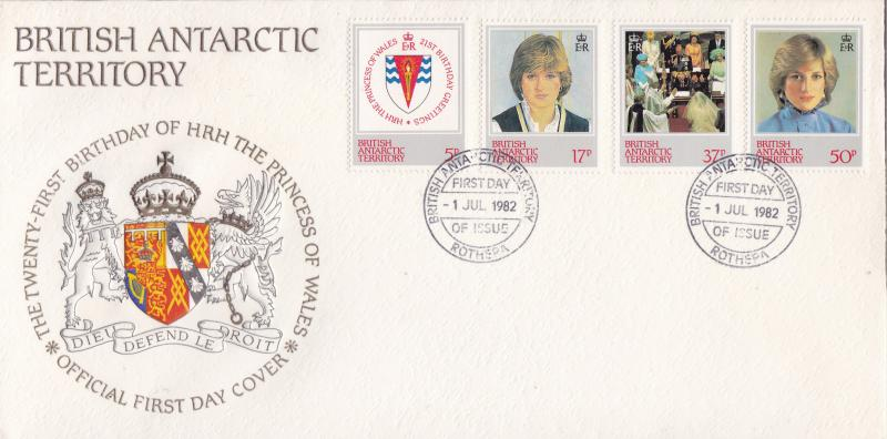 British Antarctic Territory 1982  Princess Diana 21st Birthday First Day Cover