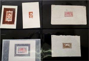 HERRICKSTAMP FRANCE 1924 Olympics 5 Different Proofs Sc.# 199-201