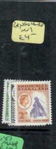 RHODESIA & NYASALAND (P1206B)  QEII SG 18-20   MOG