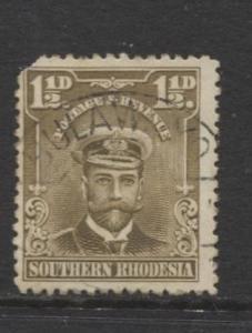 Southern Rhodesia- Scott 3 - KGV - Definitives  -1924 - FU - Single 1.1/2d Stamp