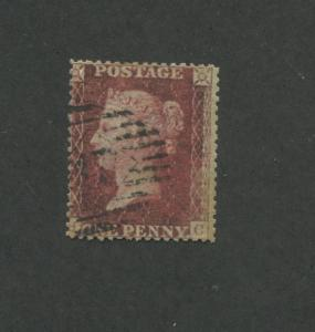 1855 Great Britain United Kingdom Queen Victoria 1 Pence Postage Stamp #11