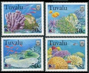 1998 Tuvalu 813-816 Sea fauna