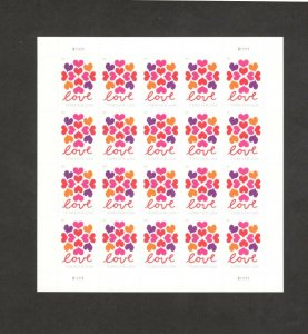 5339 Love Hearts Blossom Sheet Of 20 Stamps Mint/nh