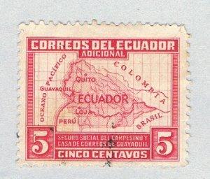 Ecuador Map red 5c (AP124005)
