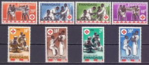 Ghana. 1963. 44A-51A. Red Cross. MVLH.