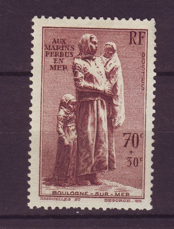 J24609 JLstamps 1939 france set of 1 mh #b93 statue