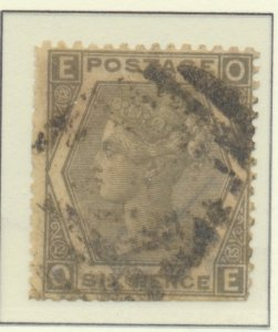 Great Britain Stamp Scott #59 Plate #12, Used - Free U.S. Shipping, Free Worl...