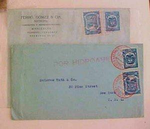 COLOMBIA  SCADTA LOCAL POST POR HIDROAVION BOGATA also MANIZALES BOTH 1924 #C42