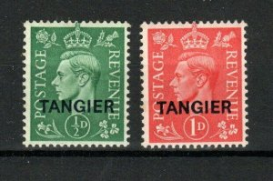Morocco Agencies - Tangier 1944 1/2d and 1d GB opts MH