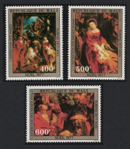 Mali Christmas Details from 'Adoration of the Magi' by Rubens 3v SG#613-615