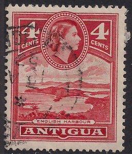 Antigua 1953 – 62 QE2 4ct Scarlet SG 124 ( L1371 )