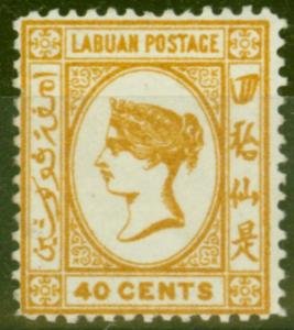 Labuan 1894 40c Orange-Buff SG57 Fine Mounted Mint