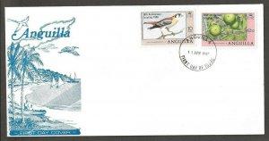 1980 Anguilla Scouts 50th anniversary ovpt sparrow hawk FDC