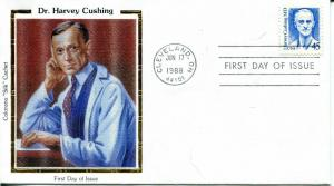 US FDC Scott #2188 Dr. Harvey Cushing. Colorano Cachet. Free Shipping.