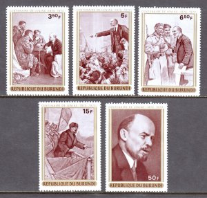 Burundi - Scott #350-354 - MNH - SCV $7.00
