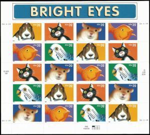 PCBstamps    US #3230/3234 Pane $6.60(4x5x32c)Bright Eyes, MNH, (5)