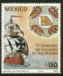 MEXICO 1519, Preparation 500th Anniv of Columbus Voyages. MINT, NH. F-VF.