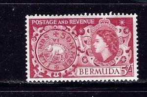 Bermuda 160 MH 1953 issue