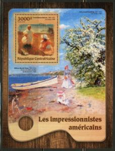 CENTRAL AFRICA 2016 AMERICAN IMPRESSIONISTS BENSON & CHASE  S/SHEET MINT NH