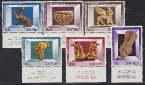 Israel #323 - 328 Israel Museum MNH Singles with tabs