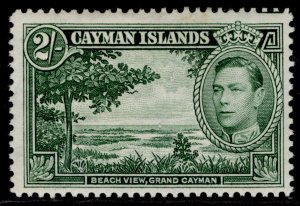 CAYMAN ISLANDS GVI SG124, 2s yellow-green, M MINT. Cat £55.