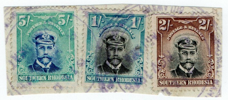 (I.B) Southern Rhodesia Revenue : Duty Stamp 8/-