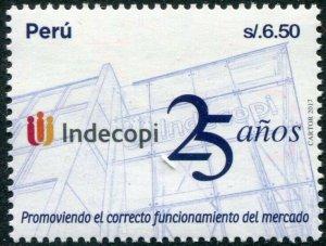 HERRICKSTAMP NEW ISSUES PERU Sc.# 1933 25 Years INDECOPI