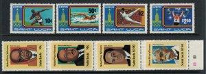 St. Lucia #516-9, 526-9* NH  CV $4.60  Olympics & Nobel Prize winners