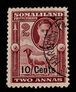 Somaliland Protectorate Scott 117 10 Cent Overprint-Used