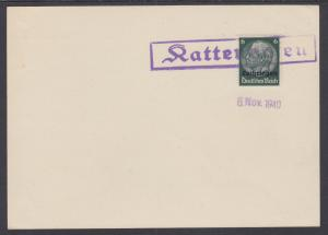 Lorraine Sc N46 used on 1940 Hattenhofen Postal Card, VF