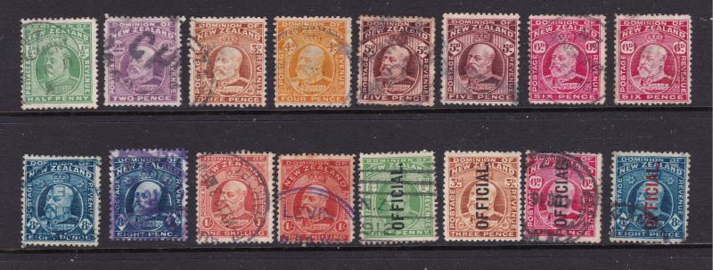 New Zealand small used lot of unsorted Edwards