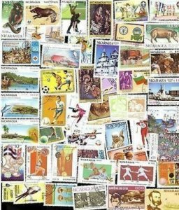 200 All Different NICARAGUA Stamps -  all large (lot p)