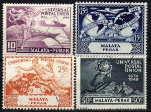 Malaya Perak #101-4   F-VF Used CV $10.75  (X1336)