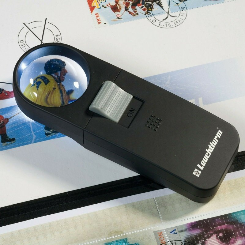 Lighthouse Pocket Magnifier with Perspex Aspheric 7x Lens, Powerful White LED