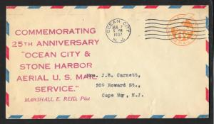 UNITED STATES Event Cover 25th Ocean City/Stone Harbor Air Mail 1937 Ocean City