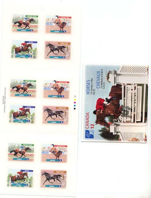 Canada - 1999 46c Horses Booklet Complete #BK220b