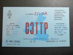10404 Amateur Radio QSL Card WEMBDON BRIDGWATER SOMERSET ENGLAND