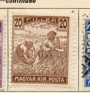 Hungary 1916 Early Issue Fine Mint Hinged 20f. 104296