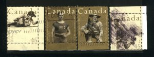 Canada #1608-09,1611-12   -3    used VF 1996  PD