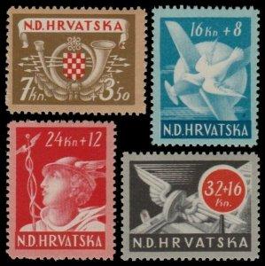 ✔️ CROATIA 1944 - AVIATION RAILWAY - SC. B52/B55 ** MNH OG [CR150]