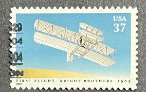US 2003 1st Flight of Wright Brothers Issue Used Single #3783