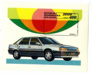 Malagasy MNH S/S 1113 Renault Car SCV 3.00