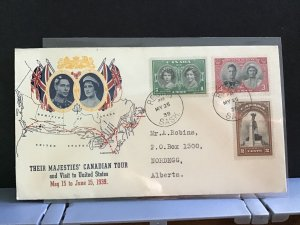 Canada 1939 Royal Canadian Tour   stamps cover R31632