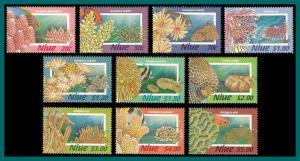 Niue 1996 Corals, MNH 684-693,SG807-SG816